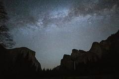 Awooni (jeffbrian) Tags: night stars yosemite nightsky valley nationalpark california milkyway falls elcapitan bridalveilfalls