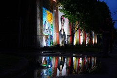 reflections of artists (drew*in*chicago) Tags: street art artist paint painter tag mural graffiti chicago 2018