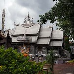 Fine art work, the first silver temple of the world, Chiang Mai, in rainy day. thumbnail