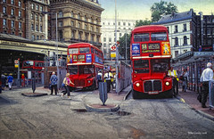 London Buses - Victoria Station (Mike Cordey) Tags: london bus leyland routemaster red victoria station double decker claptonpond arriva