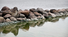 Serenity (Bad Alley (Cat)) Tags: hillsidebeach manitoba rocks water reflection shore lake lakewinnipeg