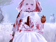 The Hunter (Cloudsou) Tags: heart gore blood fairytales littleredridinghood cute kawaii dark snow secondlife