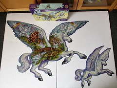 Unicorn Fantasy (pefkosmad) Tags: shapedpuzzle bonuspuzzle unicornfantasy whimsies figurals shapedpieces incomplete missingpieces jigsaw puzzle hobby pastime leisure masterpieces co