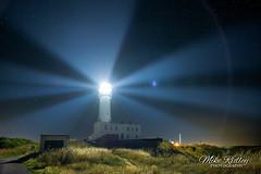 Beacon ... (Mike Ridley.) Tags: flamboroughhead flamboroughlighthouse night nightphotography stars lighthouse beams mikeridley astrophotographer astrophotography sonya7s samyang24mm14