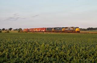 CSX 4566 - De Graff, OH