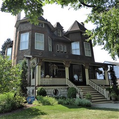 River Forest, IL, House (Mary Warren 11.0+ Million Views) Tags: riverforestil architecture building house residence porch stairs columns