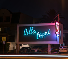 Villa Capri Motel (benakersphoto) Tags: motel sign neon night slowshutter long exposure villacapri california coronado coronadoisland sandiego sandiegocalifornia city