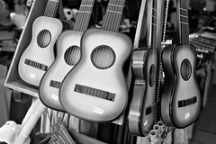 Cheep Guitars (saxild) Tags: nikon f75 nikkor 35mm2d 35mm ilford fp4 opticfilm plustek 7400 bw analog film guitar alcudia mallorca spain