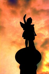 Silhouetted In Light (Phyllis74) Tags: cavehillcemetery cavehill cemetery monument memorial tribute silhouette sky light