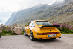 Ruf 964 (Nico K. Photography) Tags: porsche ruf 964 rare classic yellow supercars nicokphotography mountains view switzerland julierpass