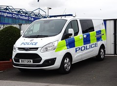 West Midlands Police 'Operational Support Unit' Tactical Support Ford Transit BX17 GKN (OPS121), Birmingham. (Vinnyman1) Tags: west midlands police operational support unit tactical tac team ford transit bx17 gkn ops121 tst public order van carrier operations osu wmp psu moe method of entry cbrn chemical biological radiological nuclear defense birmingham emergency services service rescue 999 city bcfc swansea scfc football club