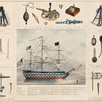 A lithograph illustration of a ship and interiors by Peter Duval. Original from Library of Congress. Digitally enhanced by rawpixel. thumbnail