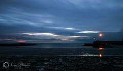 Sunrise (Leo Bissett) Tags: sunrise beach morning clouds drizzle pier harbour dawn sea stones
