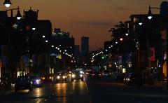 Twilight Toronto .... Uptown Yonge Street .... Toronto, Ontario (Greg's Southern Ontario (catching Up Slowly)) Tags: yongestreet toronto torontoist twilight dusk northtoronto lyttonpark urban city streetscene citylights illumination