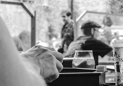 Roll the dice (Alicia Lo Voi) Tags: blackandwhite beer games friends people hand man