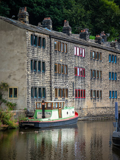 Converted mill on Rochdale Canal, Hebden Bridge
