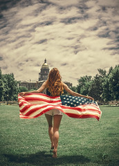 Run to the Capitol (Luv Duck - Thanks for 13M Views!) Tags: select ali redhead usa usflag denver civiccenterparkdenver downtowndenver patriotic summerindenver girlrunning americanflag americangirl allamericangirl photoshoot