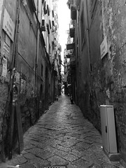 Strade di Napoli (davidepremoselli) Tags: napoli naples street urban tunnel bw blackandwhite blackwite city travel trip italy italia nofilters