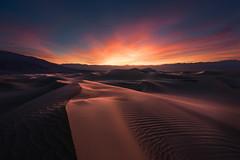 Firestorm (Foto Fresh) Tags: sony sunset sundown colorful firestorm mesquiteflat sanddunes deathvalley california luminosity painting ethereal sun light photoshop clonepainting marcadamus a7r3 a7riii wideangle 1635