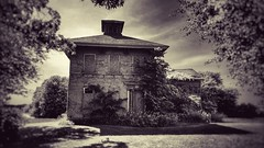 point of know return.... (BillsExplorations) Tags: sepia abandoned abandonedhouse abandonedillinois decay forgotten ruraldecay weathered old historical architecture prophetstown pointofknowreturn prairie