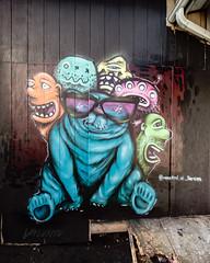 Blue Bear (Dennis Valente) Tags: 2018 streetarteverywhere usa muralist washington art contemporaryurbanart streetart seattle hdr spraypaint urbanart whitecenter artist 5dsr 32bit pnw aerosol muralart painting isobracketing streetartistry mural