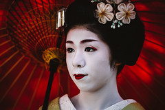 Vision (Trent's Pics) Tags: female geisha girl japan kimono kyoto lifestyle maiko parasol people portrait umbrella woman