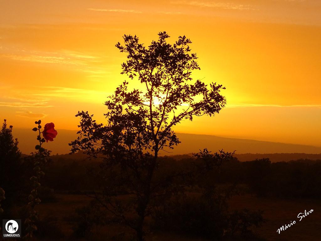 Águas Frias (Chaves) - ... o magnífico pôr do sol em Águas Frias ...