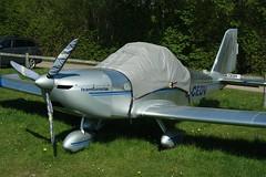 G-CEDV (IndiaEcho) Tags: gcedv ev97 eurostar popham airport airfield eghp basingstoke hampshire england canon eos 1000d light general civil aircraft aeroplane aviation microlight fly in 2018