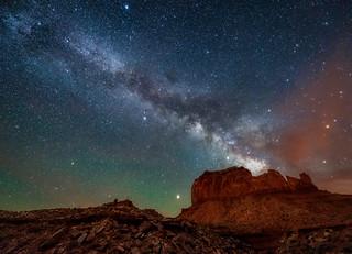 The Milky Way over Monument Valley, Arizona