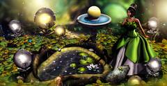 The frog prince (meriluu17) Tags: enchantment frog tiana tale fairytale prince kiss fantasy surreal princess sweet romance fairy
