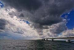 Clouds (Photodoos) Tags: zeeland rug zeelandbrug zierikzee oosterschelde nederland netherlands delta bridge clouds weather canonnl irix