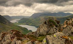 Buttermere View (Andy Watson1) Tags: haystacks lakedistrictnationalpark lakedistrict lake district buttermere crummock water cumbria england uk united kingdom great britain mountains cloudy view scenery landscape countryside photography canon70d outdoor nature rocks moody