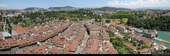 Panoramic view from the top of Berner Münster, Bern, Switzerland (JH_1982) Tags: berner münster bern minster collégiale saintvincent catedral cattedrale 伯尔尼大教堂 бернский собор panoramic view panorama observation platform deck observatory old town oldtown altstadt historic city center centre aare medieval tower turm aussicht ausblick architecture architektur gothic berne berna 伯尔尼 ベルン 베른 берн برن schweiz switzerland suisse svizzera suiza 瑞士 スイス 스위스 швейцария سويسرا