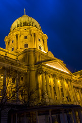 National Gallery at blue hour (HansPermana) Tags: budapest hungary ungarn magyar buda budacastle architecture city cityscape oldtown oldbuilding bluehour eu europe centraleurope spring march lights