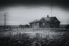All mod cons. (L/\\\/RENCE) Tags: abandoned northdakota blackandwhite landscape neglected canon