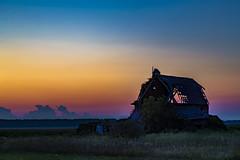 Dilapidated. (Notkalvin) Tags: activefarm farmland barnyard barn fallingdown michigan caseville dilapidated rural outdoors longexposure dusk sunset