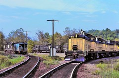 1972 Cambria and Indiana / Penn Central action- Explored! (miningcamper) Tags: penncentral junction fallenflags alcoc425 emdsw1200 caboose railway wye cambriaindiana
