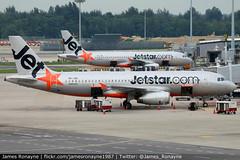 9V-JSK   Airbus A320-232   Jetstar Asia (james.ronayne) Tags: 9vjsk airbus a320232 jetstar asia aeroplane airplane plane aircraft jet jetliner airliner aviation flight flying singapore changi wsss sin canon 80d 100400mm raw