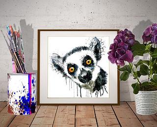 Cute Lemur Head