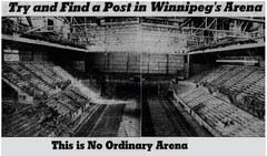 Advertisement for Winnipeg Arena, 1955 (vintage.winnipeg) Tags: winnipeg manitoba canada vintage history historic advertisement