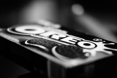 black and white literally (Herr Nergal) Tags: alpha6000 sony ilce6000 7artisans 55mmf14 macro closeup bw sw monochrome cookies kekse delicious bokeh blurry unscharf 7dwf oreo