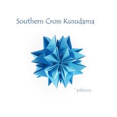 Southern Cross Kusudama (polelena24) Tags: origami kusudama modular kankichi 12modules