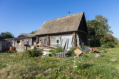 Russian village. (Oleg.A) Tags: ruined saintnicolaschurch building cathedral church old brick outdoor rural evening dome countryside blue orange russia penzaregion summer orthodox style architecture exterior design ancient materials staryakutlya catedral outdoors staryykutlya penzenskayaoblast ru