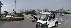 Panorama...I think this is Luoyang. Small vehicles and bicycles often have their own dedicated lane where they go separated by an island. If they are supposed to follow traffic law, it is not always apparent and because cars park on the sidewalk and shops (Bruce Moon) Tags: august 14 2018 0133pm panoramai think this is luoyang small vehicles bicycles often have their own dedicated lane where they go separated by an island if supposed follow traffic law it always apparent because cars park sidewalk shops use repair weld you ind yourself competing pedestrian with these largely electric which can sneak up very quickly