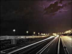 Road to the light (peavy30) Tags: tormenta storm zaragoza aragon verano nubes rayos clouds nocturna agosto