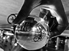 in a magic ball.... (Eggii) Tags: ball crystalball street lodz piotrkowska bicyclesproject 100