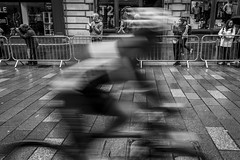 Zoom Zoom (Leanne Boulton) Tags: monochrome people urban street candid streetphotography candidstreetphotography streetlife europeanchampionships man cyclist cycle cycling bicycle road race racing speed motion blur action movement shutter crowd wet weather rain raining face faces tone texture detail depth expression naturallight outdoor light shade city scene human life living humanity society culture lifestyle sport canon canon5dmkiii wideangle 24mm ef2470mmf28liiusm black white blackwhite bw mono blackandwhite glasgow scotland uk