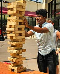 Jenga guys (LarryJay99 ) Tags: jenga man men guy guys dude male studly manly dudes handsome faces facial facialhair friends peeking peekingpits hairyarms caps youngguys youngmen glasses shades sleevless sleevelessshirts shirts jeans shorts arms armpits hairypits pits denim cuteguy