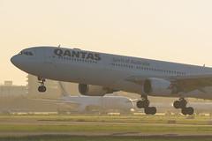 Qantas & Ethiopian | Shanghai Pudong Airport (Kuma Pictures) Tags: qantas airlines jet aircraft airplane pvg airbus a330 aviation landing australia shanghai pudong airport nikon d810 70200 ethiopian a350 a350900 a330300