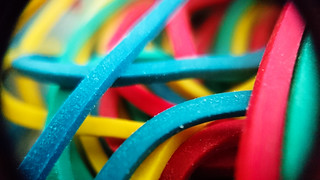 Macro Mondays - Multicolor. Rubber Bands